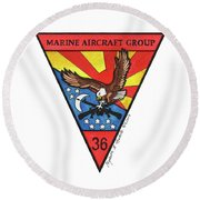 Mag-36 Patch Round Beach Towel