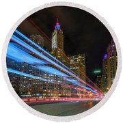 Round Beach Towel featuring the photograph Mag Mile Warp Speed by Sean Foster