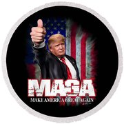 Maga Round Beach Towel