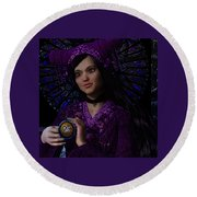 Round Beach Towel featuring the painting Magdalene Of Nagasaki by Suzanne Silvir