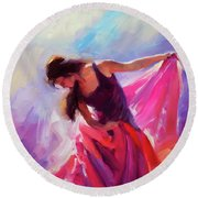 Magenta Round Beach Towel