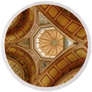 Magestic Architecture Round Beach Towel