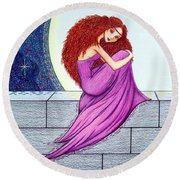 Maggie's Lullaby Round Beach Towel