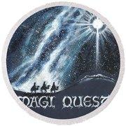Magi Quest Round Beach Towel