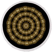 Magic Brass Rings Round Beach Towel