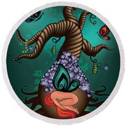 Magic Butterfly Tree Round Beach Towel by Serena King