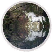 Round Beach Towel featuring the photograph Magic by Diane Schuster