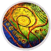 Magic Guitar Round Beach Towel