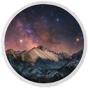 Round Beach Towel featuring the photograph Magic In The Mountains by Darren White