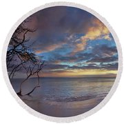 Magic Moments Round Beach Towel by James Roemmling