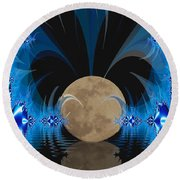 Magic Moon Round Beach Towel