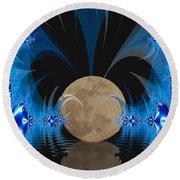 Magic Moon Round Beach Towel by Geraldine DeBoer