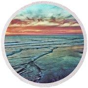 Magic Sunset Color Spectrum Round Beach Towel