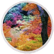 Magical Autumn Round Beach Towel