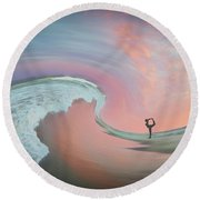 Magical Beach Sunset Round Beach Towel