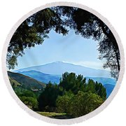 Magical Etna Round Beach Towel