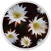 Magical Flower Round Beach Towel by Gina Dsgn