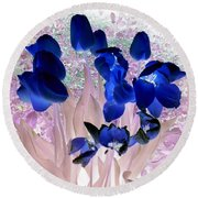 Magical Flower I I Round Beach Towel