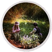 Magical Garden Round Beach Towel
