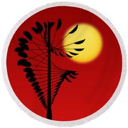 Magical Mobile And Sun Round Beach Towel