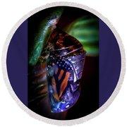 Magical Monarch Round Beach Towel by Karen Wiles