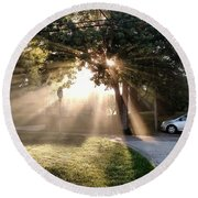 Magical Morning Round Beach Towel