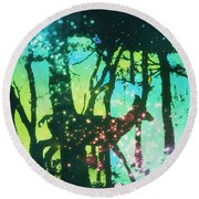 Magical Nature Round Beach Towel