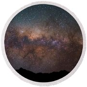 Magical Night By The Mountains Round Beach Towel