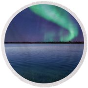 Magical Night By The Seashore Round Beach Towel