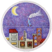 Magical Night Round Beach Towel