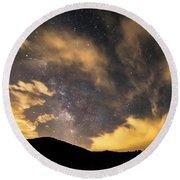 Round Beach Towel featuring the photograph Magical Night by James BO Insogna