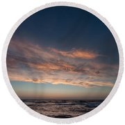 Round Beach Towel featuring the photograph Magical Sunset by Laura Melis