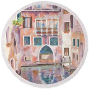 Magical Venice Round Beach Towel