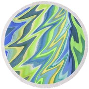 Magical Wing Abstract Art Round Beach Towel
