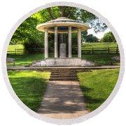Magna Carta Memorial Round Beach Towel