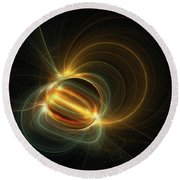 Magnetic Field Round Beach Towel