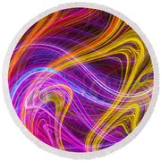 Magnetic Flames Round Beach Towel by Mark Blauhoefer