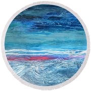 Magnificent Morning Abstract Seascape Round Beach Towel