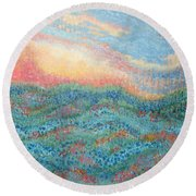 Magnificent Sunset Round Beach Towel by Holly Carmichael
