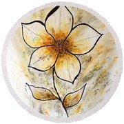 Magnolia Art-flower Round Beach Towel