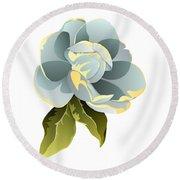 Magnolia Blossom Graphic Round Beach Towel