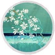 Magnolia Round Beach Towel