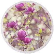 Magnolia Round Beach Towel by Melanie Alexandra Price