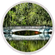 Magnolia Plantation Bridge - Charleston Sc Round Beach Towel
