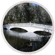 Magnolia Plantation Bridge Round Beach Towel by Gordon Mooneyhan