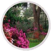 Magnolia Plantation - Fs000148a Round Beach Towel by Daniel Dempster