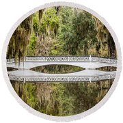 Magnolia Plantation Gardens Bridge Round Beach Towel