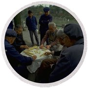 Mahjong In Guangzhou Round Beach Towel