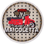 Maicoletta Scooter Advertising Round Beach Towel
