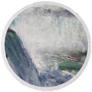 Maid Of The Mist Round Beach Towel